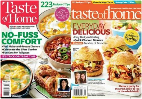 77699 Food Magazine Subscription Discount Code by Taste Of Home Magazine Just 6 97 Per Year