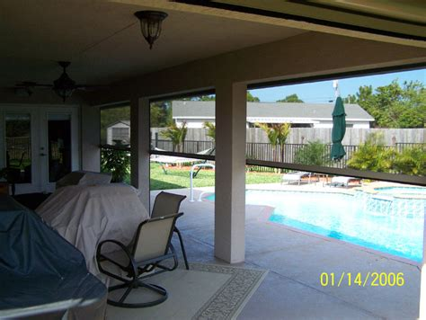 retractable electric porch screen enclosure the porch
