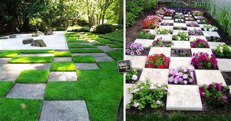 decorare giardino posare le mattonelle da giardino 15 idee originali