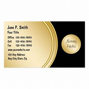 Notary business cards zazzle for Notary business card examples