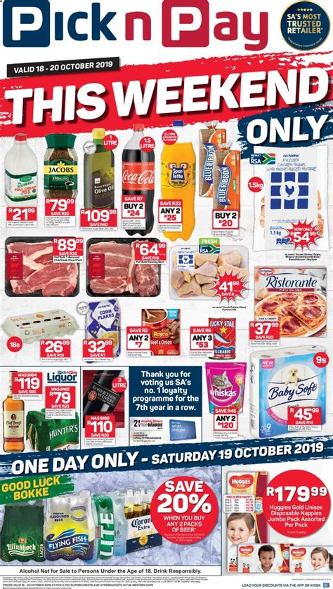 Pick n Pay Specials Western Cape 18 October 2019