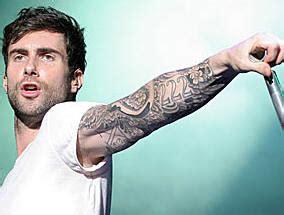 world famous celebrities adam levine  full tattoos   body