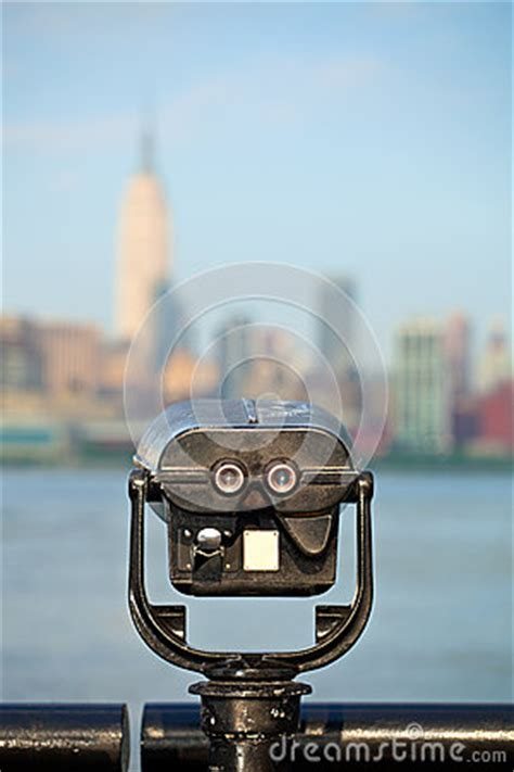 observation deck  binoculars view   york city