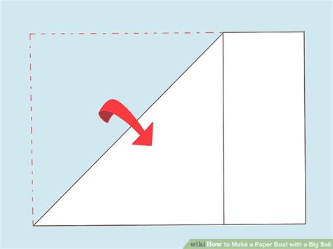 How To Make A Paper Boat by How To Make A Paper Boat With A Big Sail 12 Steps With