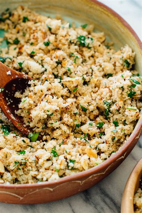 mediterranean cauliflower rice cookie and kate