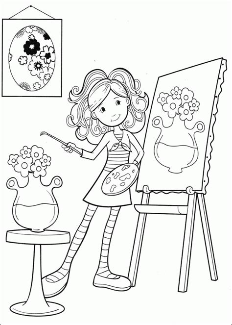 groovy girls coloring pages coloringpagesabccom