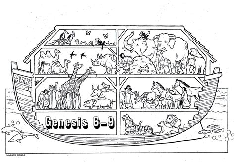 noahs ark boat coloring pages 703 | free christian coloring pages for children and adults 3