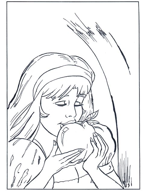 coloring page snow white fairy tales