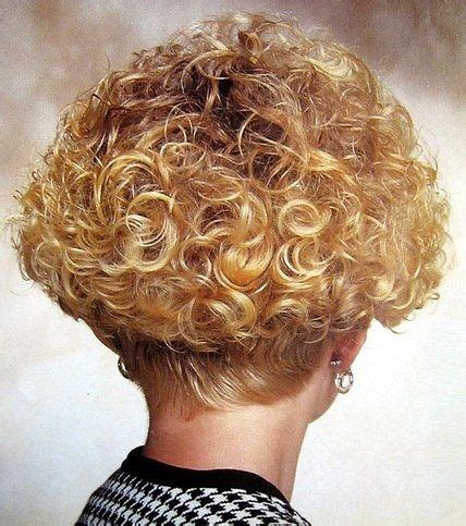big perm short stacked bob perm style curls  short
