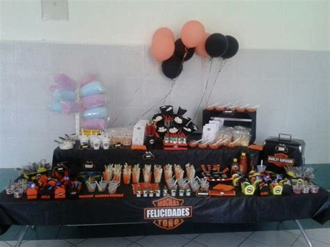 mesa de dulces  snacks harley davidson mesas de dulces