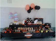 Mesa de dulces y snacks Harley Davidson Mesas de dulces