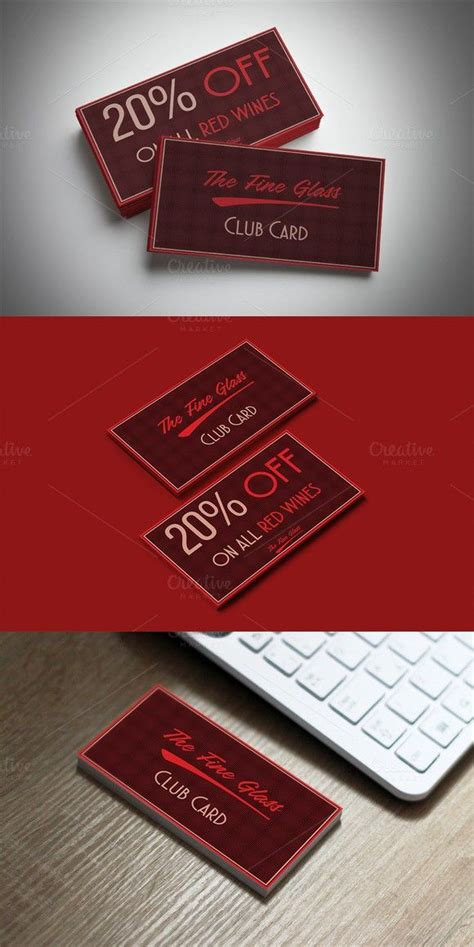 classy bordeaux discount card creative card templates
