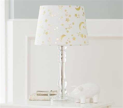 metallic moon star table shades pottery barn kids
