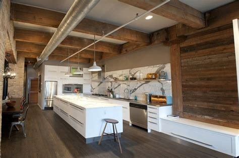 erie loft rustic kitchen chicago by moss