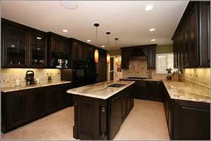 Dark, Cherry, Wood, Cabinets