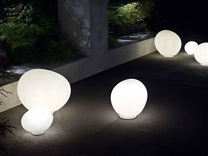 Buy the foscarini gregg outdoor lamp at nestcouk for Large pebble floor lamp