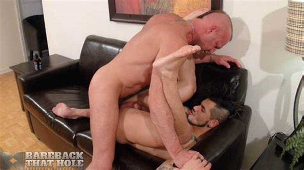 #Smooth #Tattooed #Hunk #Gets #Barebacked #By #A #Hairy #Stud #At