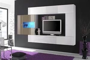 Meuble Tv Laqué Blanc : meuble tv design oltredomo deco design ~ Teatrodelosmanantiales.com Idées de Décoration