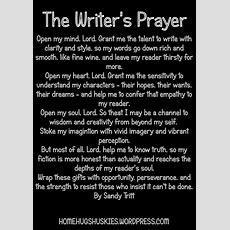Writing Wednesday The Writer's Prayer — Post From Homehugshuskies  Life Of A Busy Dad