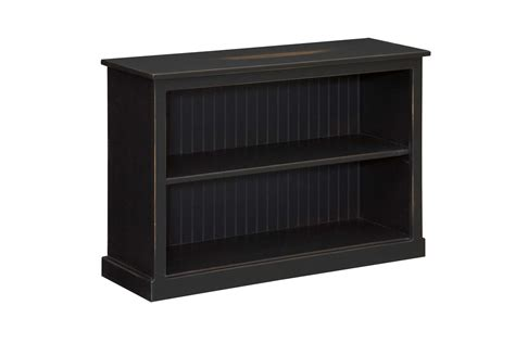 Low Black Bookcase by Low Bookcase Amish Furniture Connections Amish