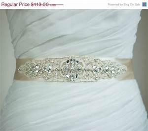 champagne bridal sash wedding dress sash belt ivory sash With unique wedding dress sashes belts