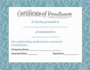 Resume Writing Templates Free Blue Floral Award Of Excellence Template Gift