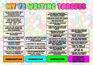 new curriculum 2014 pupil writing target sheets