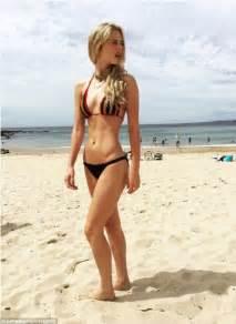 hugo weaving swimsuit samara weaving flaunts her toned stomach in a vibrant