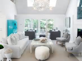white and gray living room contemporary living room