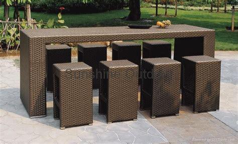 patio bistro set rattan bar table and chair fo u01