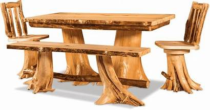 Log Dining Furniture Table Beauty Fireside Chairs