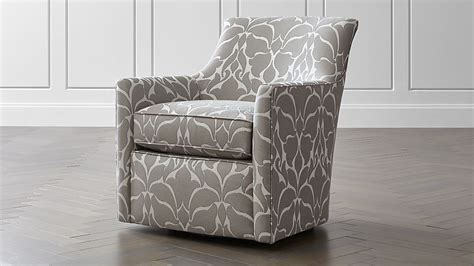 clara swivel accent chair reviews crate  barrel
