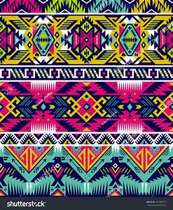 Neon Colors Tribal Vector Seamless Pattern Stock Vector ...