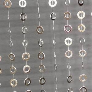 Schöner Leben Outlet : vorhang t rvorhang kreise silber kunststoff 90x220cm ebay ~ Orissabook.com Haus und Dekorationen