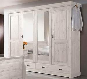 Kleiderständer Holz Weiß : massivholz kleiderschrank 4t rig kiefer massiv holz schrank wei ~ Whattoseeinmadrid.com Haus und Dekorationen