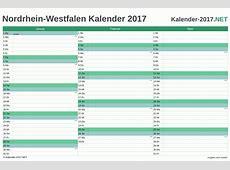 Kalender 2017 NordrheinWestfalen