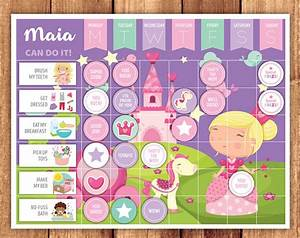 Behavior Change Chart Princess Reward Chart Little Graphics
