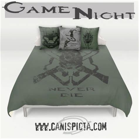 Bed Gaming Pillow by Halo Master Chief Bedding Duvet From Canis Picta Mash