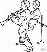 Clarinet Colorear Dibujo Dibujos Coloring Colorare Disegni Clarinetto Disegno Band Banda Stampare Printable Clarinete Klarinetten Duo Clipart Clarineta Ausmalbild Ausmalbilder sketch template