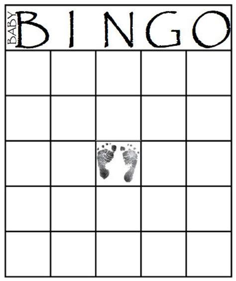 printable bingo card templates baby shower bingo