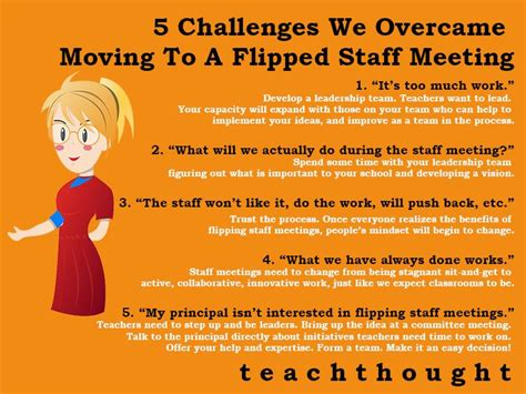 challenges  overcame moving   flipped staff meeting