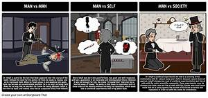 Dr Jekyll And Mr Hyde Literary Conflict Storyboard
