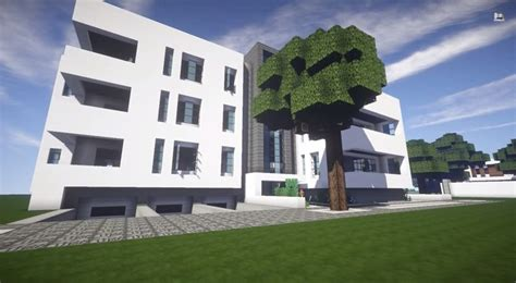 build  modern apartment building minecraft building