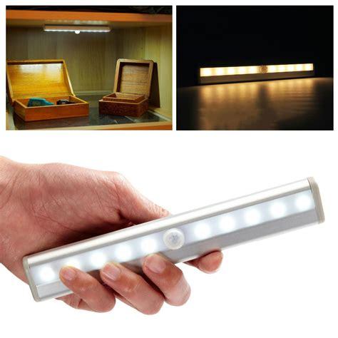 10 led motion activated cordless sensor led light indoor closet drawer wall l ebay