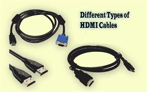 A Complete Guide To The Different Types Of Hdmi Cables