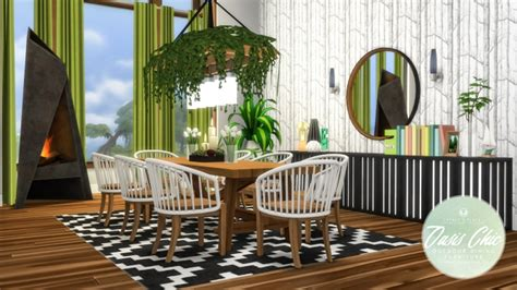 oasis chic dining outdoor set  simsational designs
