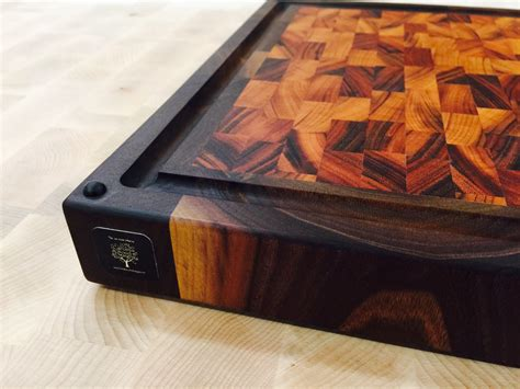 Custom Made Walnut Tigerwood Cutting Board By Carolina