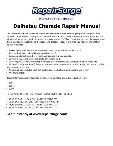 daihatsu charade repair manual metrrunner