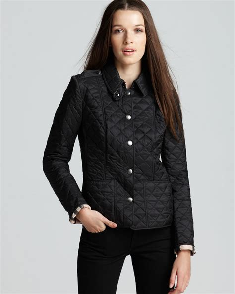 s burberry quilted jacket lyst burberry kencott quilted jacket in black