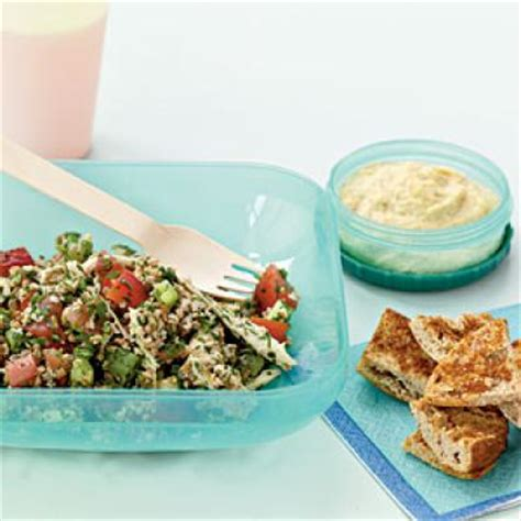 light lunch ideas tabbouleh with chicken and red pepper our best healthy lunch ideas cooking light